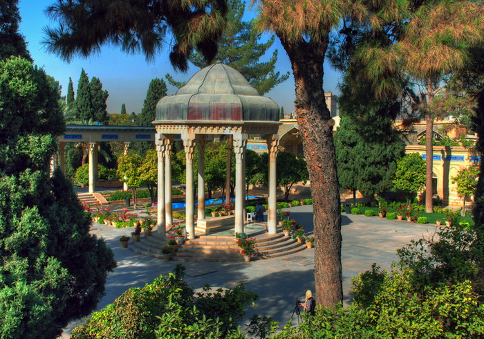 The tomb of Hafez, one of the most famous Persian poets during the Islamic Golden Age