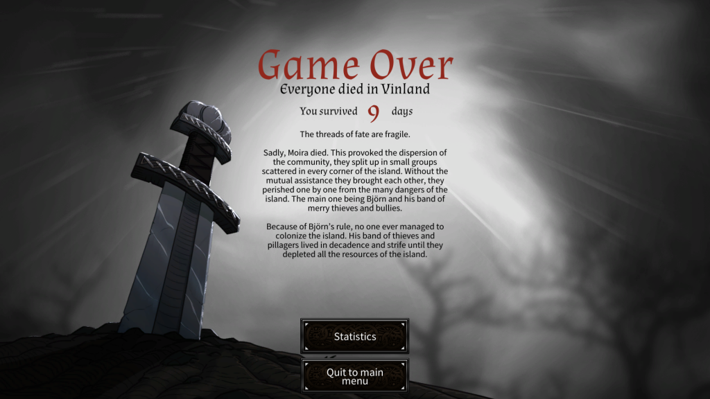 Dead In Vinland Game Over