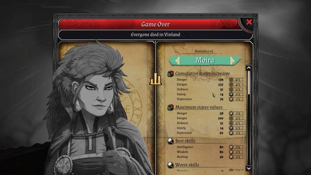 Moira end statistics